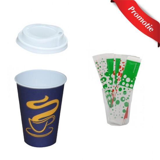 Pachet 1 bax Pahare Cafea, 1 bax Capace si 1 bax Palete